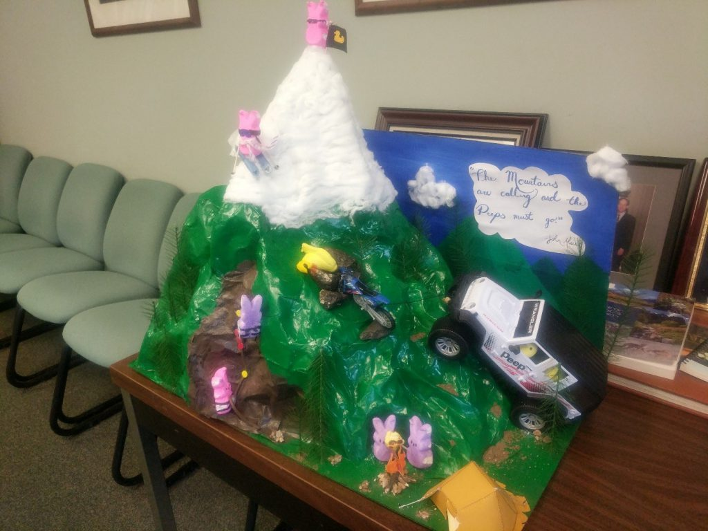 Mountain Peeps by Cora and Sierra