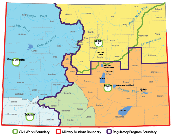US Army Corps Regions_Colorado