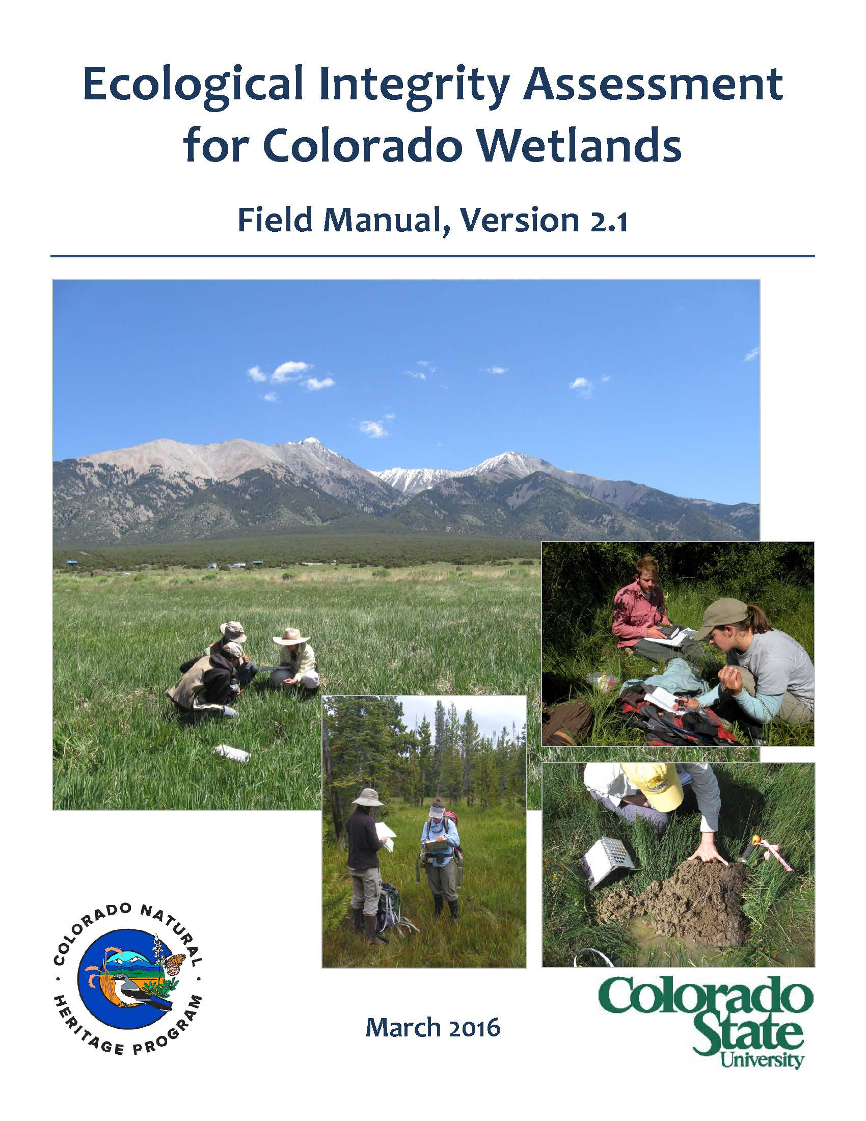 Colorado Ecological Integrity Assessment Field Manual, Version 2.1