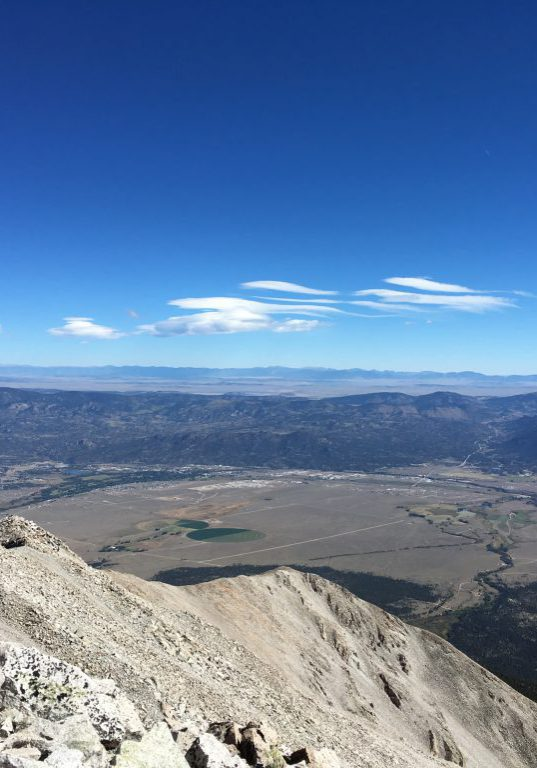 View of the upper Arkansas River valley from the summit of Mt. Princeton. Sarah Marshall, CNHP.