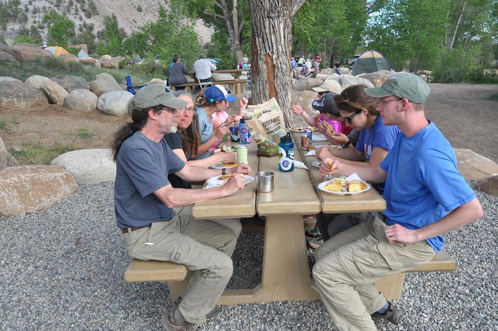 CNHP field crew breaks for lunch.