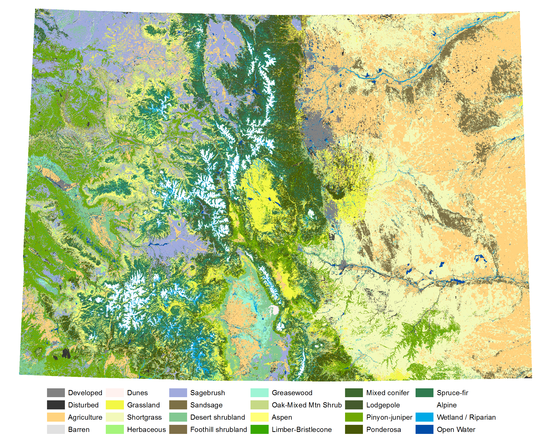 Map of Colorado ecological systems