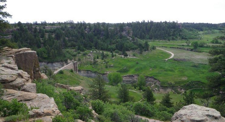 Castlewood Canyon State Park in Douglas County, Colorado.