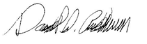Signature of David G. Anderson (Director)