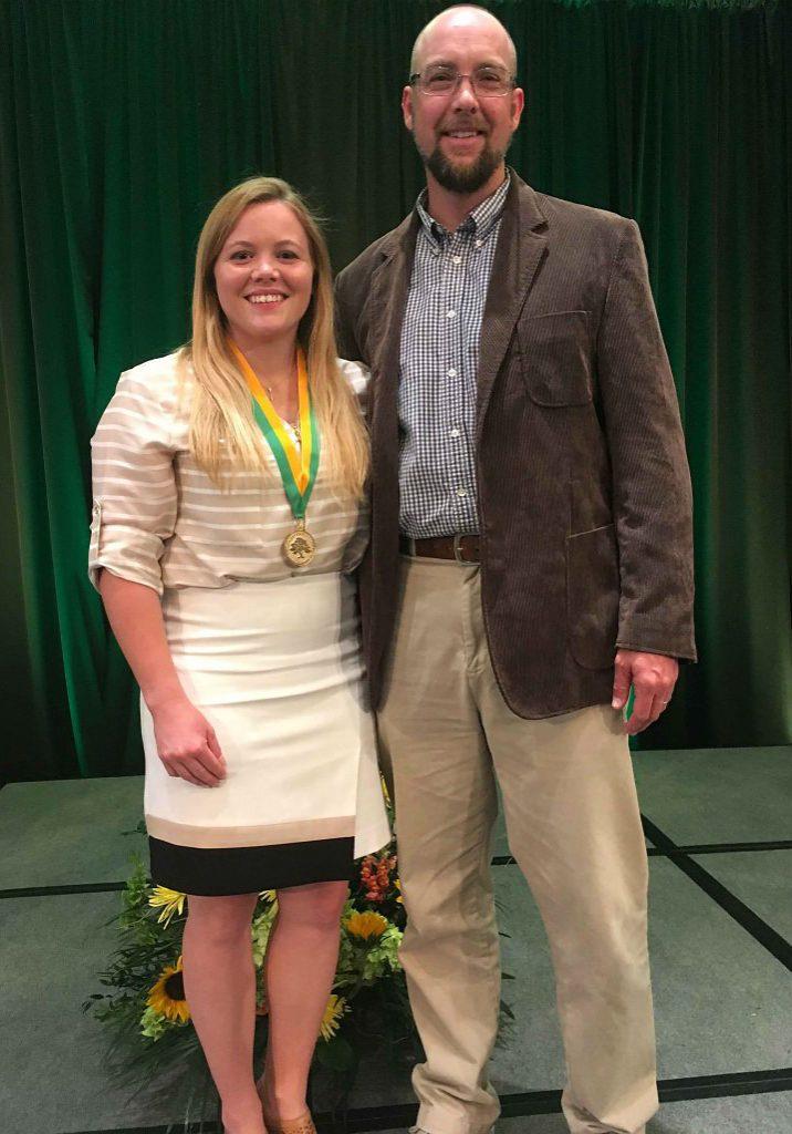 Rob Schorr with 2016 Hamilton Award recipient Blaise Newman.