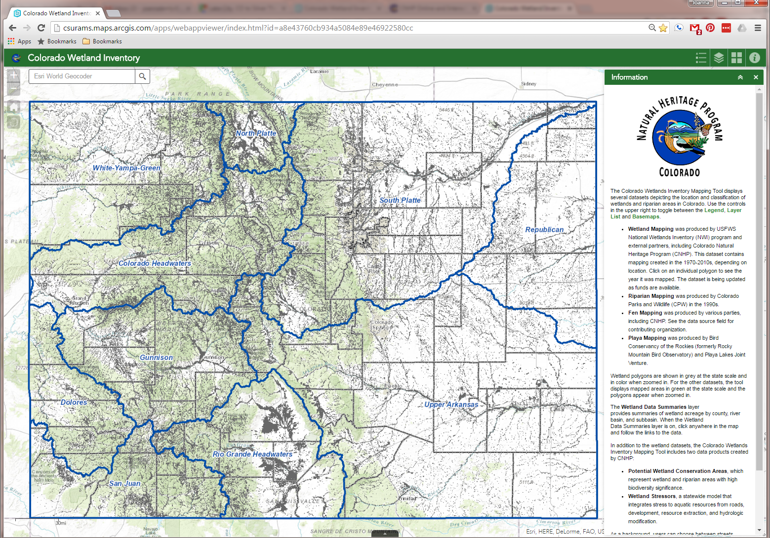 Colorado Wetland Inventory Mapping Tool