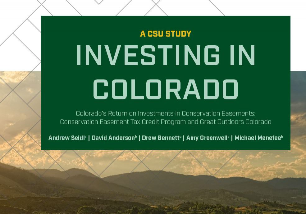 Colorado's Return on Investments in Conservation Easements Cover Page