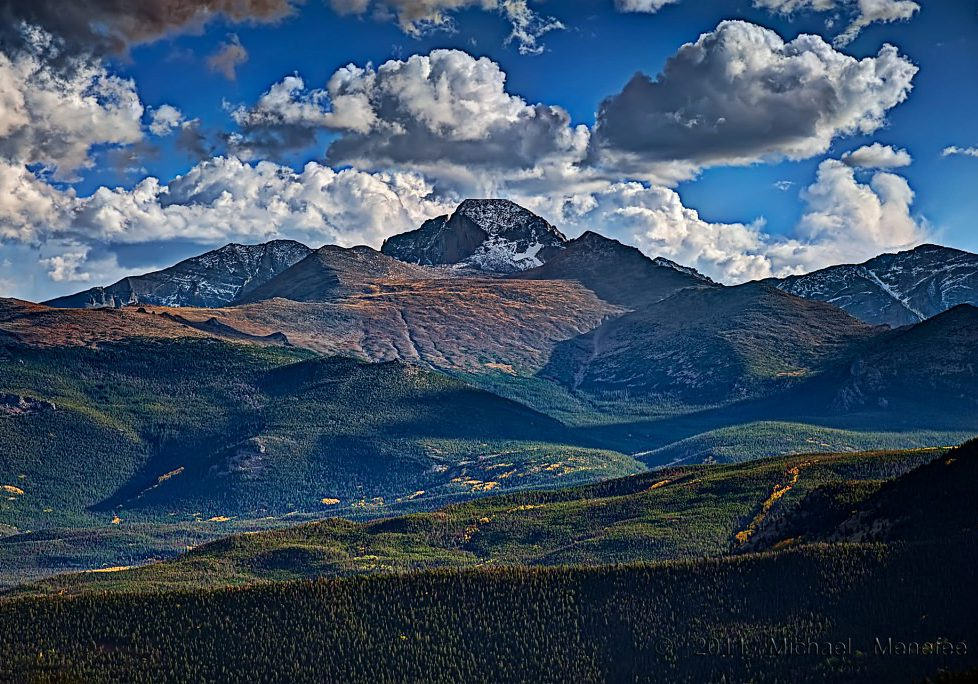 Longs Peak in Rocky Mountain National Park by Michael Menefee.